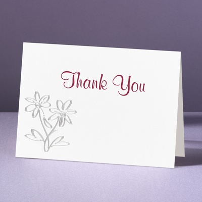 Daisy Love - Thank You Card and Envelope