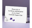 Rose Shine with Purple Foil Roses - Reception Card