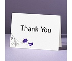 Rose Shine with Purple Foil Roses - Thank You Card and Envelope