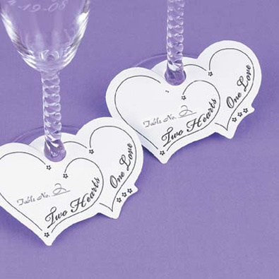 Personalized Paper Charms - Table No.