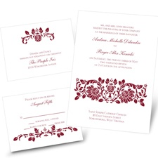 Victorian Damask - Separate and Send Invitation