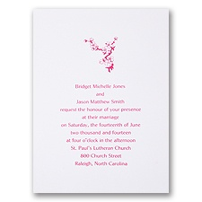 Bright White with Design - Separate and Send Invitation