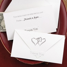 Swish Hearts Gratuity Envelope