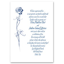 Delicate Rose - Invitation