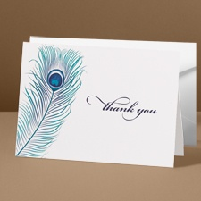 Feather Fancy - Thank You Note Folder & Envelope