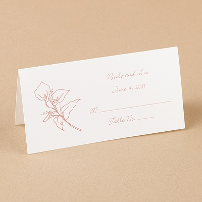 Bright White Design Place Card