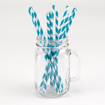 Turquoise Party Straws