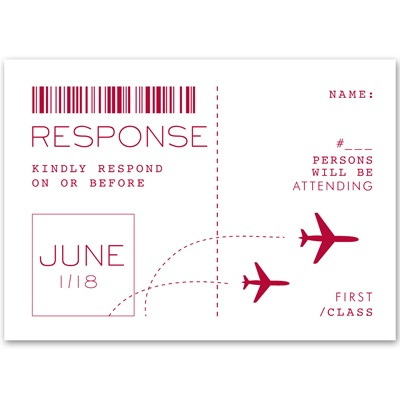 Boarding Pass - Response Card