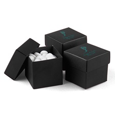 Black Favor Boxes (2-Piece)