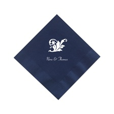 Navy Cocktail Napkins