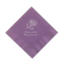 Purple Cocktail Napkins