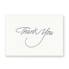 Purple Foil Thank You - Blank