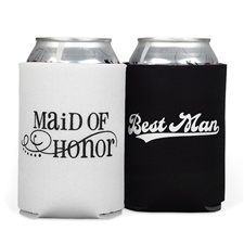 Maid of Honor and Best Man Can Cooler Set