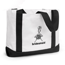 Bridesmaid Black and White Tote Bag