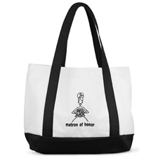 Matron of Honor Black and White Tote Bag