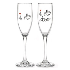 I Do Toasting Flutes - Personalized