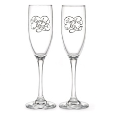 His and Hers Toasting Flutes - Personalized