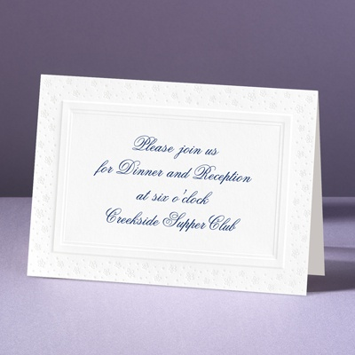 Tiny Pearl Daisies - Reception Card
