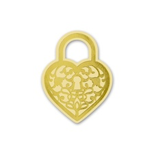 Heart Padlock - Gold - Wedding Seal