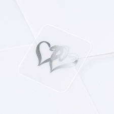Silver Swish Hearts Seal