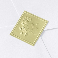 Gold Diamond Shaped Rose Seal
