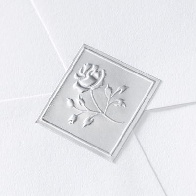 Silver Elegant Rose Seal