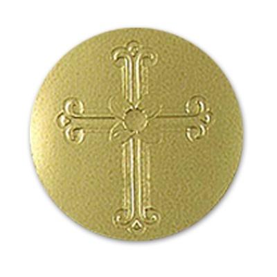 Gold Embossed Cross