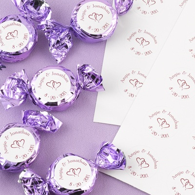 Candy Favor Stickers