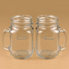 Couples Country Canning Jar Mug