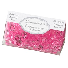 Hot Pink Diamond Confetti