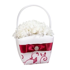 Red Floral Basket