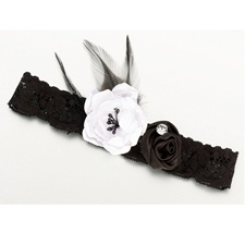 Black Vintage Lace Wedding Garter
