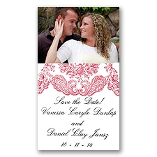 Forever Flourish - Barn Red - Save the Date Magnet