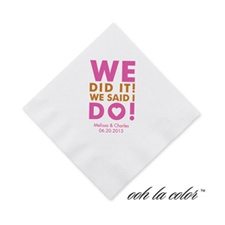 We did it! - Cocktail Napkin