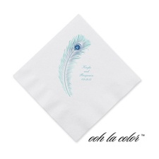 Feather Fancy - Cocktail Napkin