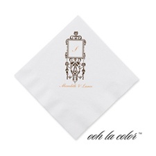 Framed Monogram - Chocolate - Cocktail Napkin