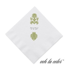 Clearly Refined - Kiwi - Cocktail Napkin