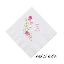Watercolor Roses - Lipstick - Cocktail Napkin