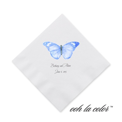 Butterfly in Blue - Cocktail Napkin