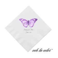 Butterfly in Grapevine - Cocktail Napkin