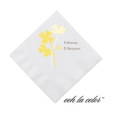 Floral Shadow - Canary - Cocktail Napkin