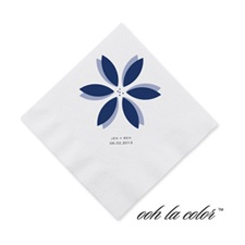 Floral Delight - Eclipse - Cocktail Napkin