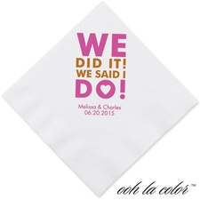 We did it! - Dinner Napkin