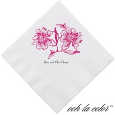Flowers and Flourishes - Lipstick - Dinner Napkin