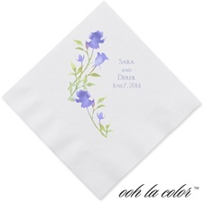 Watercolor Roses - Hydrangea - Dinner Napkin