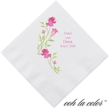Watercolor Roses - Lipstick - Dinner Napkin