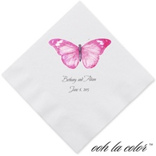 Butterfly in Lipstick - Dinner Napkin