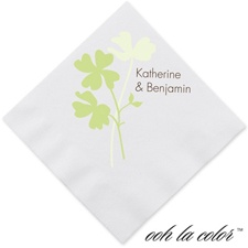 Floral Shadow - Leaf - Dinner Napkin
