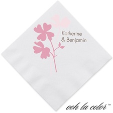 Floral Shadow - Salmon - Dinner Napkin