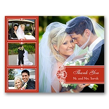 Photo Delight - Scarlet - Photo Thank You Card and Envelope